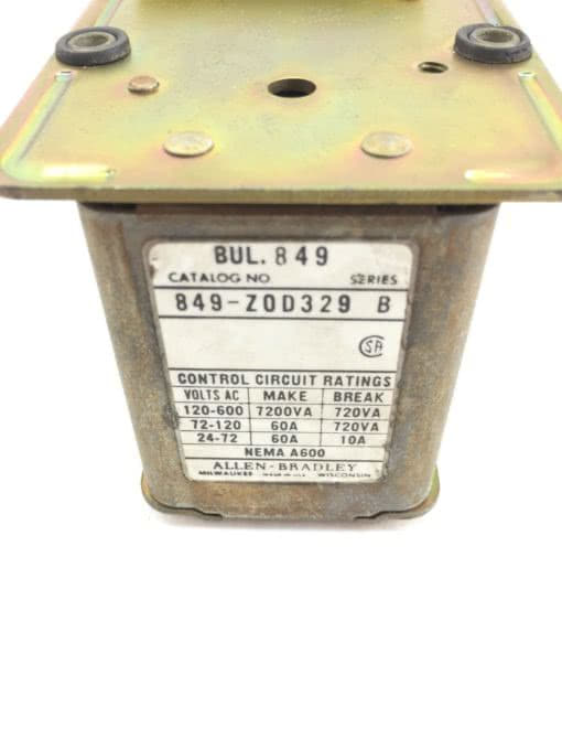 ALLEN BRADLEY 849-ZOD329 TIMER FOR PNEUMATIC ASSEMBLY USED, FAST SHIPPING, H93 2