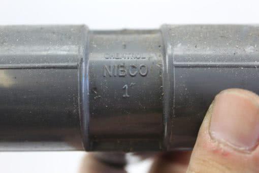 "Nibco 1"" Schedule 80 PVC Tee *Lot of 10* (B246) 2"