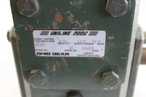 Ohio Gear Uniline 2000 B2262 1:0-B ratio *NEW* (B247) 2