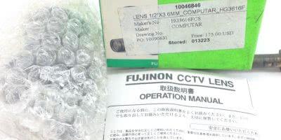 NIB! FUJINON HG3616FCS COMPUTAR CCTV LENS 1/2″ X 3