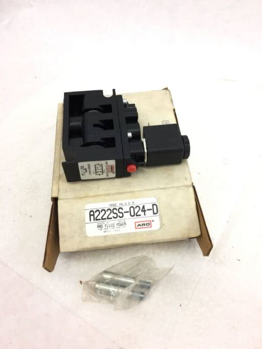 NEW IN BOX ARO A222SS-024-D Solenoid Air Control Valve, FAST SHIPPING! (B379) 1