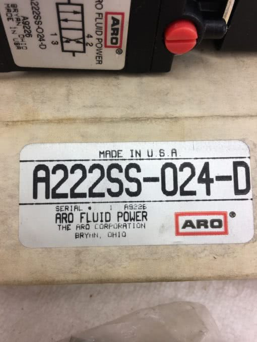 NEW IN BOX ARO A222SS-024-D Solenoid Air Control Valve, FAST SHIPPING! (B379) 2