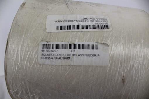 Isolation Joint Fiberglass feeder P-132068-A Seal skirt *NEW* (B135) 2