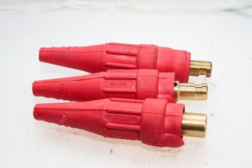CROUSE-HINDS COOPER E1012-8352 #2 -2/0 CABLE SIZE MALE PLUG RED! LOT OF 3 (B136) 2