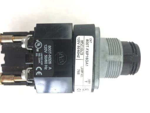 ALLEN BRADLEY 800T-FXP16GA1 PUSH BUTTON WITH CONTACT BLOCK NEW NO BOX (H48) 2