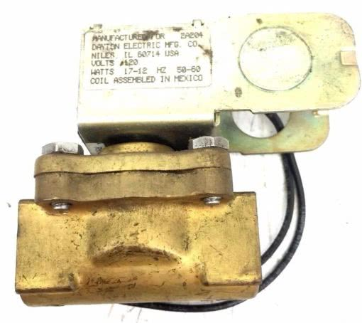 Dayton 2A204 Solenoid Valve Coil W/ R9930 BK 1 VALVE, USED GREAT CONDITION, G29 1