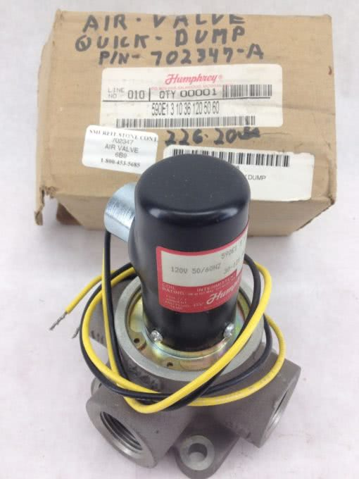 NEW! HUMPHREY 590E1-3-10-36 SINGLE IN-LINE SOLENOID VALVE FAST SHIP!!! (F252) 1