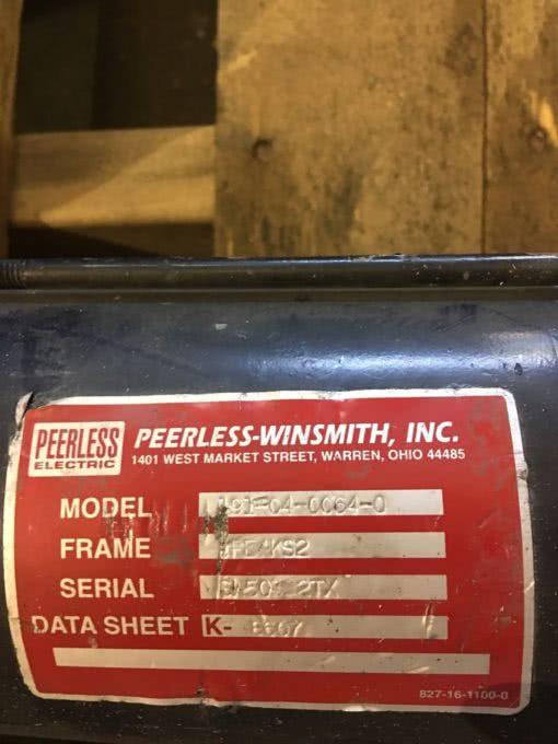 USED PEERLESS ELECTRIC 191-04-0064-0 SERVO MOTOR, FE4KS2 FRAME, (NP7) 2