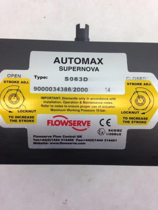 FLOWSERVE AUTOMAX SUPERNOVA S063D (B407) 2