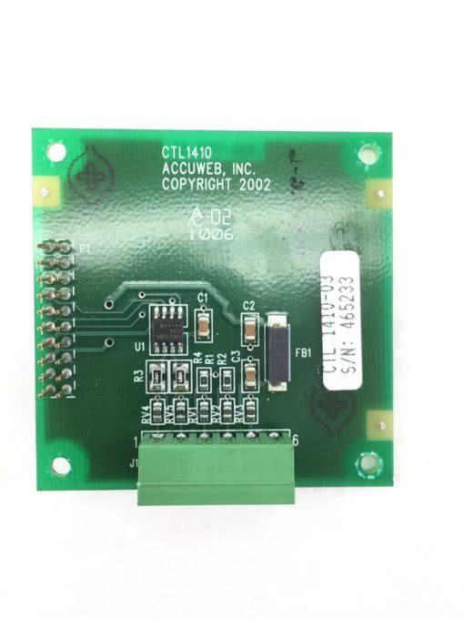 ACCUWEB CTL 1410 03 LOGIC BOARD (A648) 1