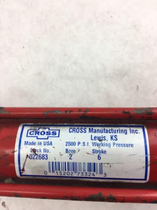 "NEW Cross 022683 TIE ROD HYDRAULIC CYLINDER 2"" BORE 6"" STROKE, 2500 PSI, (B366) 2"