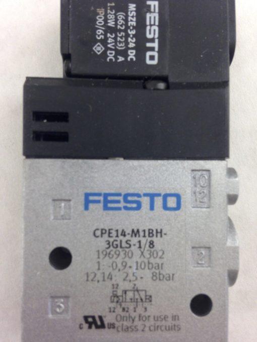 FESTO CPE14-M1BH-3GLS-1/8 196930 SOLENOID VALVE (A754) 2