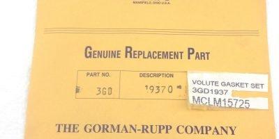 NEW! GORMAN-RUPP 3GD-19370 4-PC VOLUTE GASKET SET FAST SHIP!!!(H135) 1