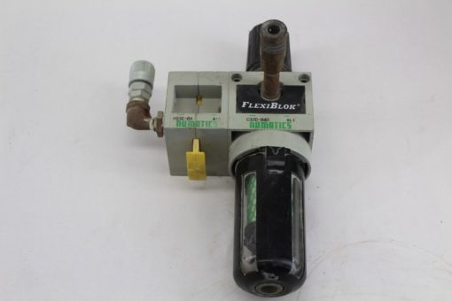 Numatics C32D-04D FlexiBlok Filter With VS32-04 Shutoff valve *used* (J65) 1