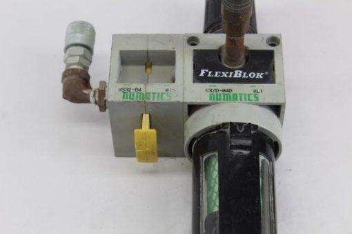 Numatics C32D-04D FlexiBlok Filter With VS32-04 Shutoff valve *used* (J65) 2