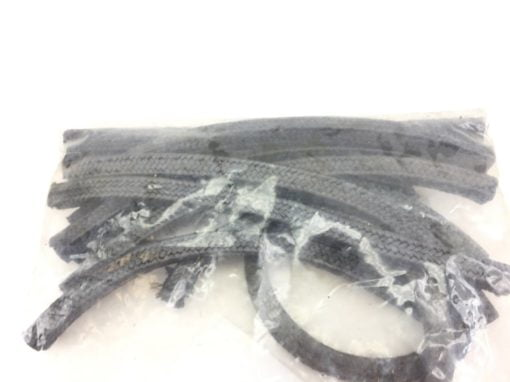 """807200-07 1/2"""" SQUARE BRAIDED GRAPHITE MECHANICAL PACKING 28060242 12-PC (H309) 1"""