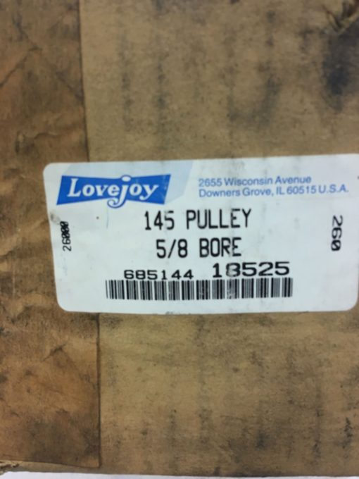 NEW IN BOX LOVEJOY MODEL 145 VARIABLE SPEED PULLEY, 5/8 INCH BORE, B374 2