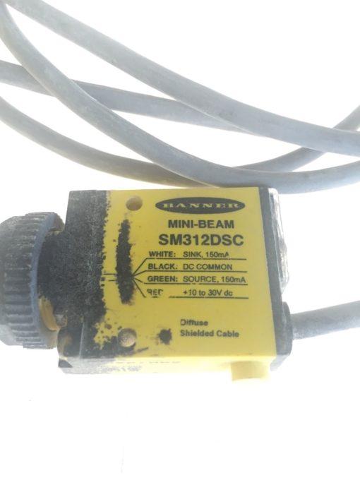 USED (Good Contition) Banner SM312DSC MINI Beam Sensor 27879, Fast Shipping, H40 2