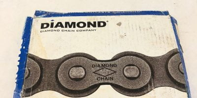 NEW IN BOX DIAMOND X-1550-010 50 RIV ROLLER CHAIN 10' FAST SHIP! (B463) 1