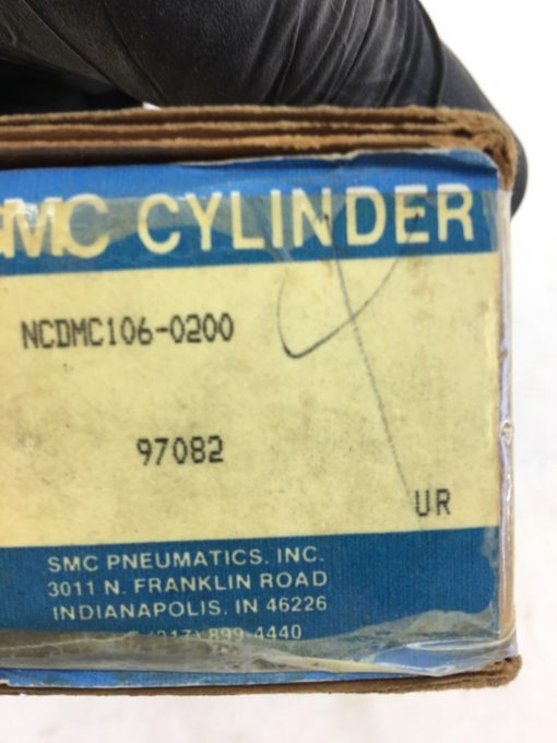 (2) NEW IN BOX SMC NCDMC106-0200 Stainless Steel Air Cylinder, FAST SHIP! (H325) 2