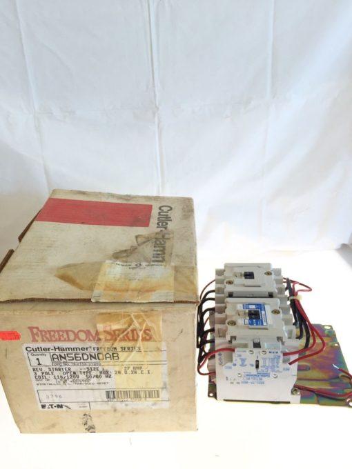 NEW IN BOX Eaton Cutler Hammer AN56DNOAB Size 1 Rev Starter, 3 POLE, 27A, B110 1