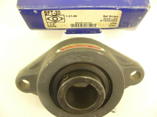 SEALMASTER GOLD LINE SFT-20 1-1/4 TWO-BOLT FLANGE BEARING New In Box (F80) 2