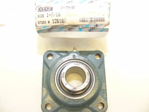 Dodge Reliance F4BSCM107 Four-Bolt Flange Bearing New In Box (F76) 1
