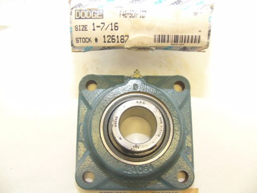 Dodge Reliance F4BSCM107 Four-Bolt Flange Bearing New In Box (F76) 2