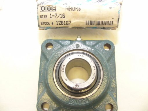 Dodge Reliance F4BSCM107 Four-Bolt Flange Bearing New In Box (F76) 3