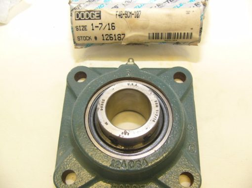 Dodge Reliance F4BSCM107 Four-Bolt Flange Bearing New In Box (F76) 4
