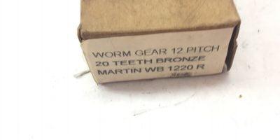 """NEW IN BOX Martin WB1220R Worm Gear, Pitch 12"""" 20 TEETH, BRONZE, RH, (A159) 1"""