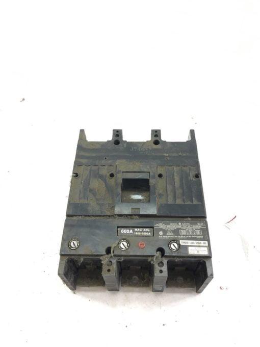 USED General Electric TJK636F000 Circuit Breaker 600 Amp 3 Pole, 600 VAC, B329 1