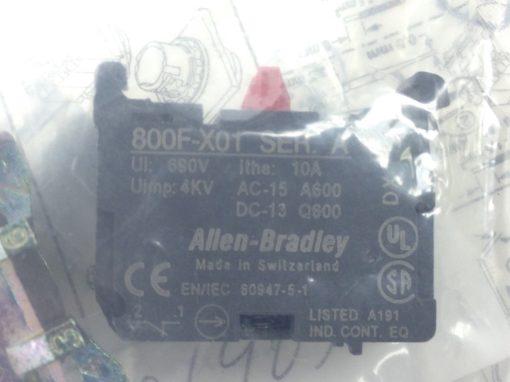 ALLEN BRADLEY 800FM-E4MX01 SERIES A EXTENDED PUSH BUTTON RED (A756) 3