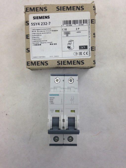 SIEMENS 5SY4 232-7, CIRCUIT BREAKER, 32A, 400V, 2P (A772) 1