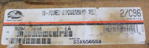 FAST SHIP! GATES HI-POWER II 2/C96 9094-2096 NEW (BELT 12M) 1