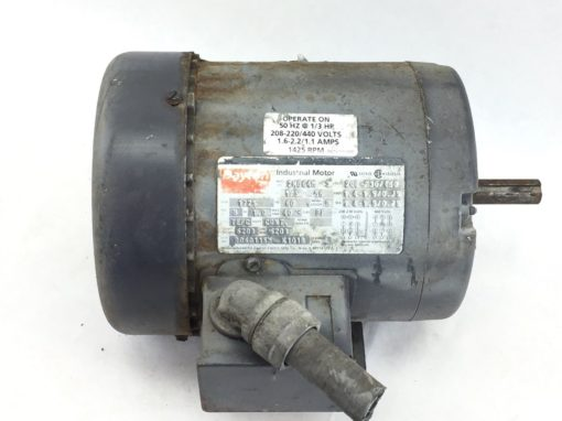 DAYTON INDUSTRIAL MOTOR # 2N864M HP 1/3 RPM 1725/1425 VOLT 208-220/440 (B55) 1