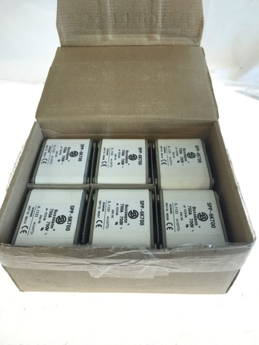 NEW IN BOX (Lot of 6) Bussmann SPP-6K700 700A 700V, Fuse Fuses (B158) 1