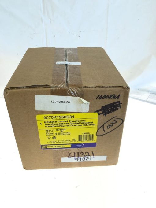 FACTORY SEALED SQUARE D SCHNEIDER ELECTRIC 9070KT250D34 CONTROL TRANSFORMER B158 1