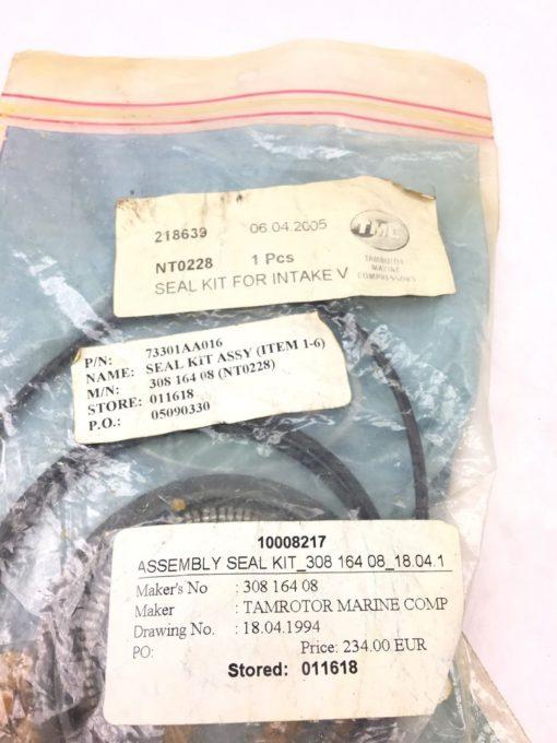 NEW TAMROTOR MARINE NT0228 SEAL KIT FOR INTAKE VALVE, 308-164-08, FAST SHIP! H17 2