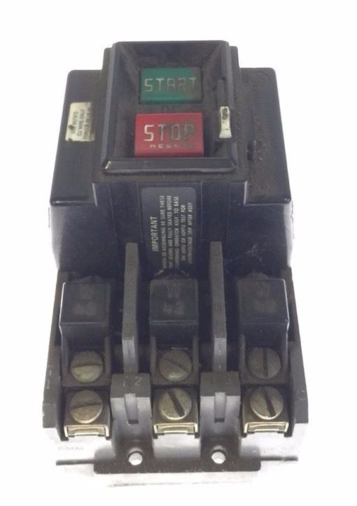 USED Allen Bradley 609-A0W Manual Starting Main Switch 460/575V 5HP 3 Phase, G66 1