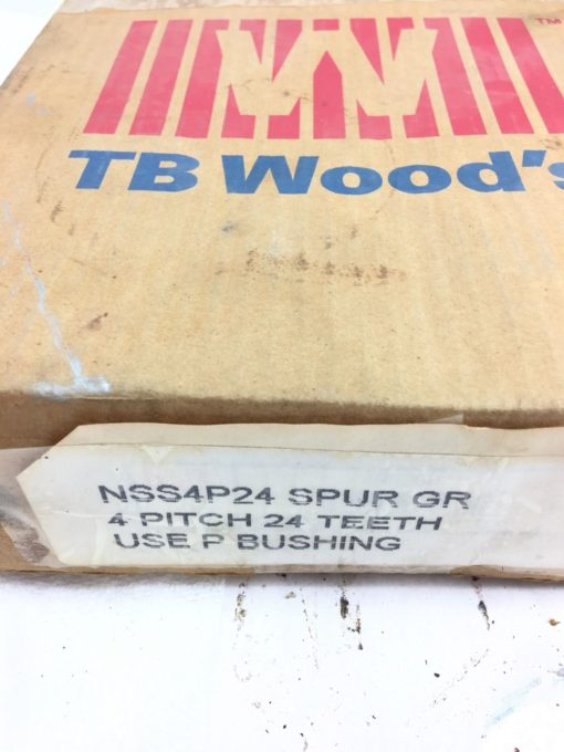 "NEW BROWNING TB WOODS NSS4P24 External Tooth Spur Gear, 4"" PITCH, 24 TEETH, B114 2"