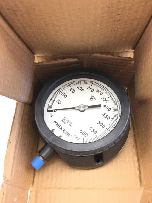 NEW IN BOX WEKSLER AA442 PM4LWXX 4 1/2″ ROYAL PROCESS GAUGE 0-600 PSIG, (B114) 1