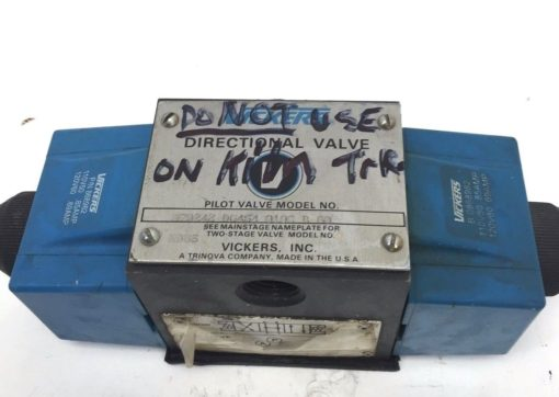 VICKERS DG4S4010CB60 DIRECTIONAL VALVE USED (H249) 1