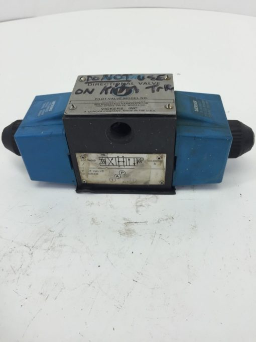 VICKERS DG4S4010CB60 DIRECTIONAL VALVE USED (H249) 2