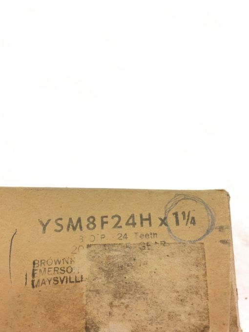 "NEW BROWNING YSM8F24H Emerson MITER GEAR 24 TEETH 1-1/4"" BORE 8"" PITCH, (A129) 2"