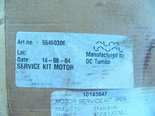 ALFA LAVAL DC TUMBA 10143647 MOTOR SERVICE KIT 554603-06 NEW, SEALED!!! (G94) 2