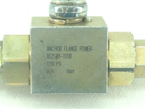 NEW! ANCHOR FLANGE POWER # AE2S#8-11DB 7250 PSI BRASS VALVE FAST SHIP!!! (HB4) 2