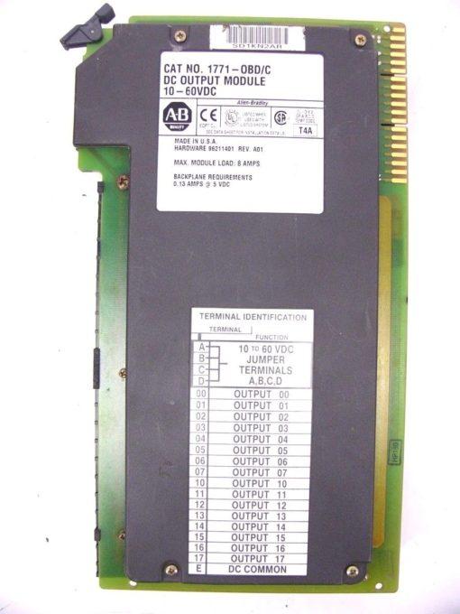Allen Bradley 1771-OBD C DC Output Module 10 – 60 VDC 60 DAY WARRANTY!! (H253) 1