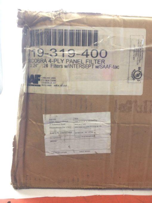 NIB! AAF 19-319-400 4-PLY PANEL FILTER 17 PCS FAST SHIP!!! (PLIST) 3