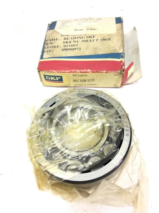 NEW IN BOX SKF Cylindrical Roller Bearing NU 308 ECP, 186X, FAST SHIPPING! B295 2